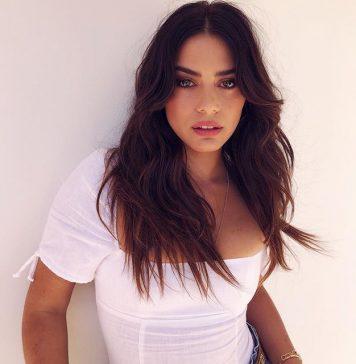 Lorenza Izzo looking hot in white t-shirt