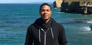 Ray Fisher in Black Hoodie
